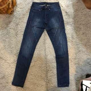 h&m biker denim jeans