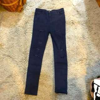 j.rep ripped jegging navy