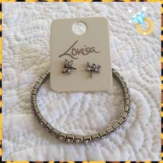 Dragon Earrings & Bracelet