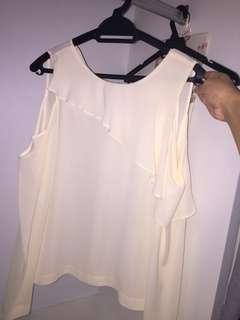 Topshop Off Shoulder Blouse