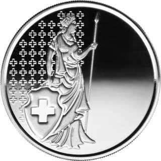 1oz 瑞士 Helvetia 999 銀元