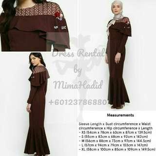 RENTAL • Zalia Embellished Lace Pieced Mermaid Dress