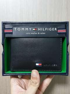 Authentic Tommy Hilfiger Leather Bifold Wallet with slight defect