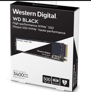 WD Black 500GB M.2 NVME SSD