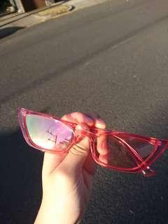 Super Cute Pink Thing Cateye Sunglasses
