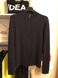 🚚 JIL SANDER深藍色貼身高領針織外套 極簡剪裁 size46 (dior homme,skinny)