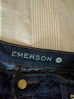 Lds Emerson jeans dark denim size 16