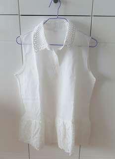 白色厘士背心 White tops