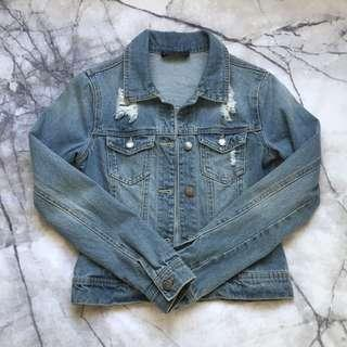 Ally distressed denim jacket 6