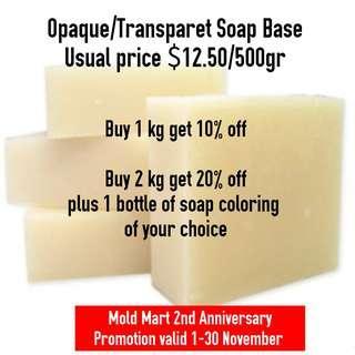 Soap Base Melt and Pour Opaque Transparent