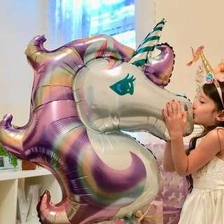 🚚 3x[Instock] Purple 🦄 Unicorn 🦄Balloon Birthday Girl Party