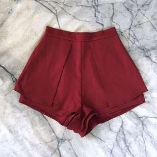 Wine red dressy shorts 6