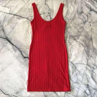 Red bodycon dress 6