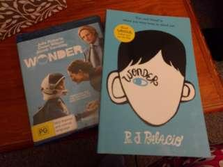 Wonder Blu-ray disc new & softcover book new