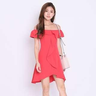 [PO] Allys Ruffles Off Shoulder Dress