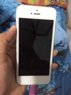 iphone 5 white 16gb FU