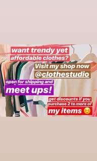VISIT MY SHOP @CLOTHESTUDIO