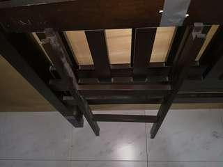 Double decker bed frame with one mattress