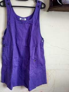Overall jeans purple