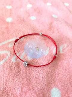 🚚 小玩子🍡 925純銀 單鑽💎 鋯石 日本蠟線 手環 腳環 姐妹鍊👭 小禮物🎁 ✨可客製✨