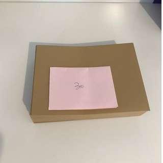 30個 全新厚材邀咭信封 長18cm闊13.5cm (金色)(全要)