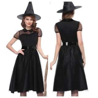 IN STOCK Black witch costume Halloween costume evil witch costume ghost ghoul costume fright night costume party costume Dnd costume