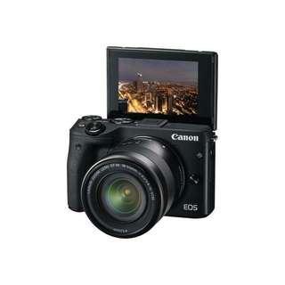 Kredit kamera mirrorless canon eos m3, promo gratis 1x cicilan