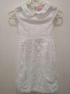 Almost New! Peppermint Eyelet White Formal Dress