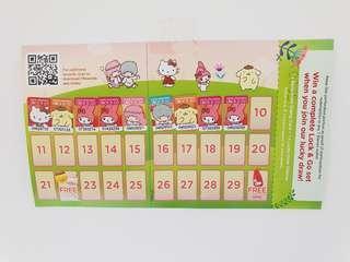 7 eleven sanrio stamps