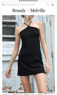 Brandy melville cammy marcia fitted halter neck dress