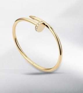 WTB authentic Cartier Just Un Clou with diamond rose or yellow gold size 15