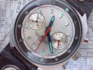Vintage Soviet poljot Komandiski chronograph air force watch