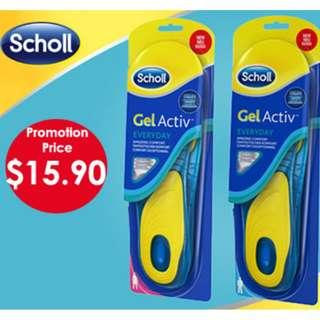 🚚 【Promotion】Scholl Insoles GelActiv® Everyday Male & Female