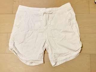NEXT 麻棉白色短褲