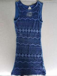 Bershka blue beaded dress