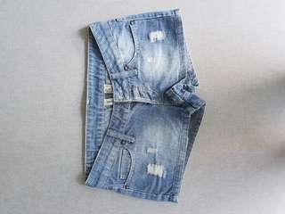 Mango denim short shorts