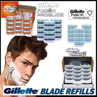 🚚 Gillette Fusion/Proglide/Mach 4-Cartridges Blades Refills OEM