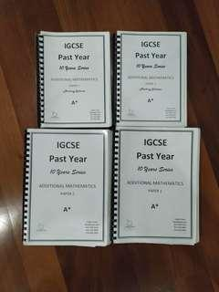 Igcse add math past year papers