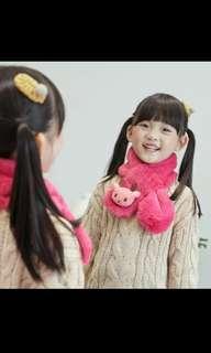 🚚 Winter girls neck warmer scarf