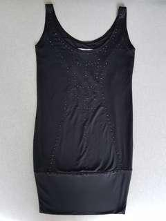 Culte Femme black sequined short jersey dress
