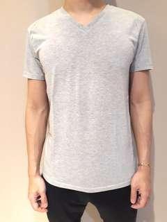 Zara Vneck Tshirt Grey