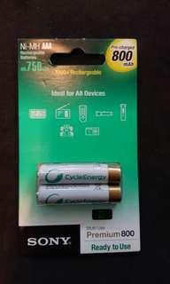 Sony rechargeable battery AAA 800mAh