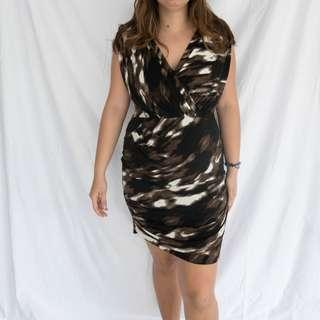 MAX AND CLEO Brown Bodycon Dress