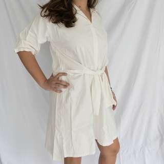 TWO CHIC White Polo Dress