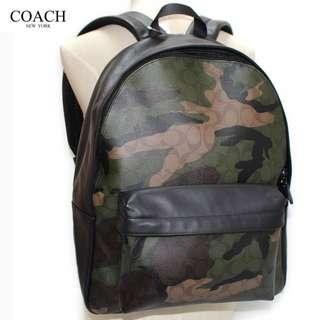 Authentic Coach F59914 Charles Backpack in Animated Signature Camo Print