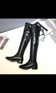 🚚 Long Leather Boots