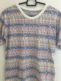 graphic patterns tee