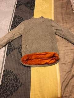 立領內絨上衣