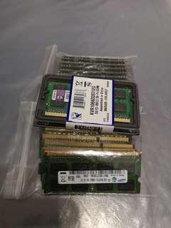 Laptop RAM DDR3 PC3-8500 10600S 12800S