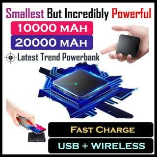 🚚 Limited★Smallest PowerBank in market★USB+Wireless Charging
